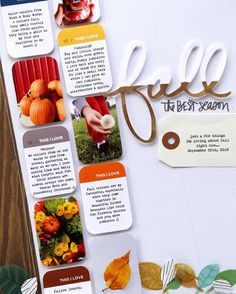 """On the blog: Our layout of the week, This I Love: Fall, comes from our member Pam (@pambaldwin). 😍🍁🍂 """"This hybrid layout came together with digital products by Ali Edwards and the Lost River scrapbook kit. I love the colours and especially the patterned papers in the Lost River kit. It was perfect for capturing some of the things I'm loving about fall right now."""" - Pam  Want a chance to win next week? Share your work in the Studio Calico member gallery at StudioCalico.com > Member…"""