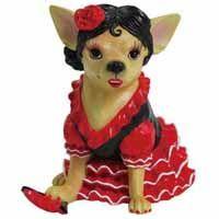 Aye Chihuahua Flamenco Dancer Figurine  Musiccitycardsandgifts.com