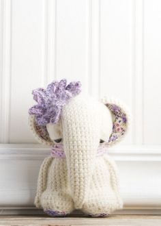 amigurumi elephant. Love this little girl's droopy eyes and nose!