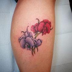 watercolor sweet pea tattoo - Google Search