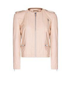 MANGO - Leather jacket