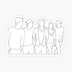 Arte One Direction, One Direction Albums, One Direction Tattoos, One Direction Drawings, One Direction Wallpaper, One Direction Humor, One Direction Pictures, Outline Art, Outline Drawings