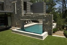 Artistic Pools, Inc. is Atlanta and Chattanooga geometric design custom swimming pool builder. Swimming Pool Photos, Luxury Swimming Pools, Swimming Pool Designs, Pools For Small Yards, Small Backyard Pools, Walk In Pool, Relaxing Places, Pool Builders, Cool Pools