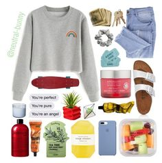 """Umm...hi lolol"" by neutral-bunny ❤ liked on Polyvore featuring Essie, Birkenstock, H&M, Aesop, Pelle, Tony Moly, philosophy and Andalou"