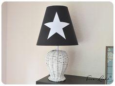 Tischlampe / Lampenschirm Leinen anthrazit - ein Designerstück von Hilgemann bei DaWanda