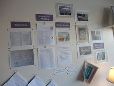 This is an example of how teachers might display the raw compilation of notes, photos, resources, etc. that they collect as they engage in a project with children. This style of display speaks to adults as the audience. Preschool Classroom, Classroom Ideas, Reggio Documentation, Lesson Plan Examples, Learning Stories, Learning Process, Lesson Planning, Classroom Design, Reggio Emilia