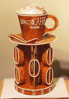 Spazio Caffe - Manuel - Decoration at Cookie Exchange, Biscotti, Gingerbread, 3 D, Competition, Candy, Cookies, Coffee, Decoration