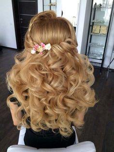 half up half down wedding hairstyle via antonina roman
