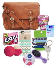 """""""What's in my purse"""" by hailstails ❤ liked on Polyvore featuring Casetify, Vera Bradley, Eos, Paul Smith, Clean & Clear and Nivea"""