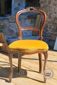 Chalk Paint�: come trasformare una sedia con cuscino in velluto