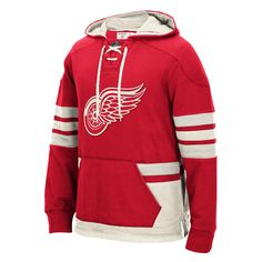 CCM Detroit Red Wings Red Big & Tall Pullover Hoodie