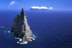 Balls Pyramid  - The worlds tallest sea stack, at 562 metres, in Lord Howe Island, New South Wales, Australia. (Jean Paul Ferrero/Ardea/Caters News)