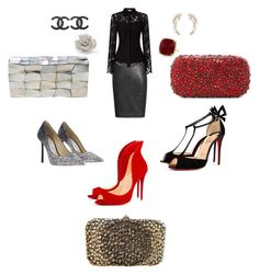 Ready for a Christmas Party by mail2bonita on Polyvore featuring polyvore, fashion, style, Christian Louboutin, Jimmy Choo, Valentino, Alice + Olivia, Jo-Liza, Charlotte Russe, Kate Spade, Anne Sisteron, Chanel and clothing