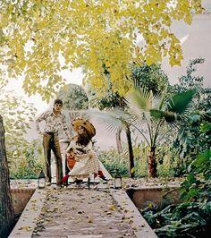 La leçon de style de Talitha Getty à Marrakech - Talitha Getty John Paul Getty Jr. Marrakech