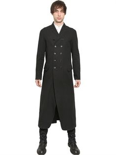 Ann Demeulemeester - Linen/wool blend double breasted coat