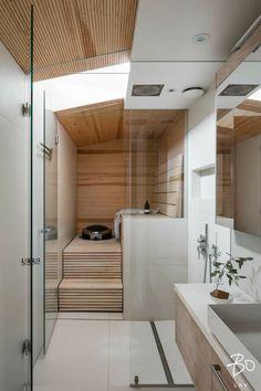 Design Your Own Bathroom, Modern Bathroom Decor, Bathroom Interior, Sauna Design, Cabin Design, House Design, Sauna Shower, Sauna Room, Lets Stay Home