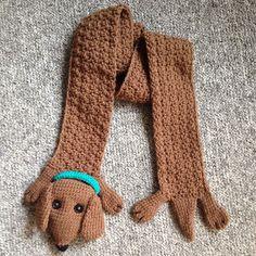 Wiener Dog Crochet Scarf Pattern