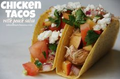 Chicken Tacos with Peach Salsa
