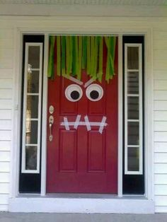 Halloween Door- my son would love to do this