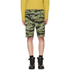 f2cee817b7 Wacko Maria Designer Green Jungle Army Shorts Army Shorts, Short Outfits,  Bermuda Shorts