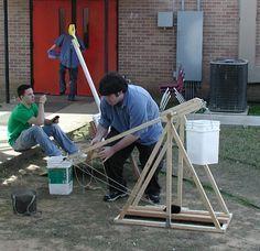 Trebuchet Setup Trebuchet Pinterest Weapons Archery And Woodworking
