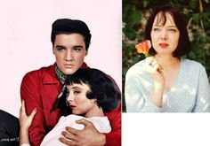 Carolyn Jones , Elvis co-star in his 1958 movie ( King Creole ) . She was very well know for her role in the sixties in the ( Adams familly ) t-v serie . She died in 1983 at 53 years old  of cancer.
