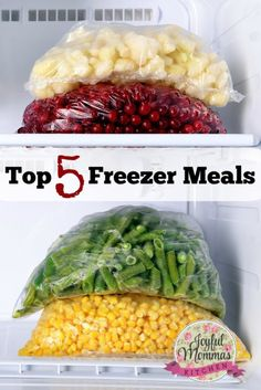 Top 5 Freezer Meals to fill your freezer. Be ready for those busy evenings and weekends
