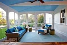 Large screen porch for New England house