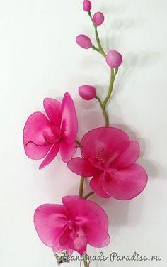 Орхидея Фаленопсис из капрона. Мастер-класс (11)