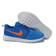 best service 0c7dc 050cb Nike Roshe Run Flyknit Mens Running Shoes Sapphire Orange