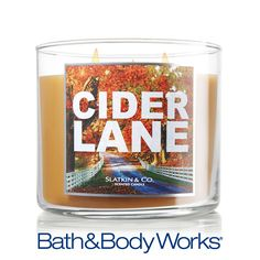 NEW Cider Lane 3-Wick Candle — a delicious fall blend of mulled cider and warm caramel with a hint of sweet cinnamon ♥   #LUVBBW