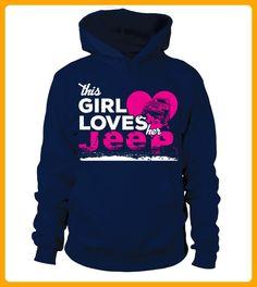 This Girl Loves her JEEP - Shirts für freundin mit herz (*Partner-Link)