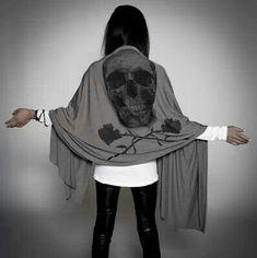 Skull scarf. I need this