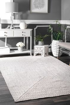 Rugs USA Ivory Jubilee Solid Braided Indoor/Outdoor Rug: Bring this contemporary and braided rug to give an elegant and chic look to your home. Made of 100 percent polypropylene fiber