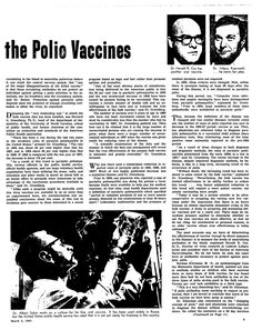 From the archive: The Truth About the Polio Vaccines (March 5, 1961)