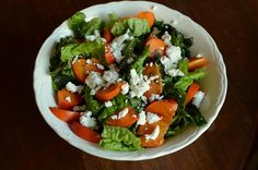 Red leaf, goat cheese and fuyu persimmon salad from Food in Jars