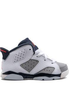Jordan Kids' 6 Retro Sneakers In Gray Retro Sneakers, Sneakers Nike, Jordan Shoes, Air Jordan, Jordan Model, Kids Jordans, Baby Size, World Of Fashion, White Leather
