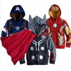 Super hero sweatshirts! Available at dashingbaby.com