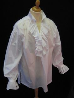 Square cut frilled cotton lawn period shirt SH110