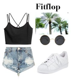 """Fitflop"" by abecic3 ❤ liked on Polyvore featuring One Teaspoon and adidas"