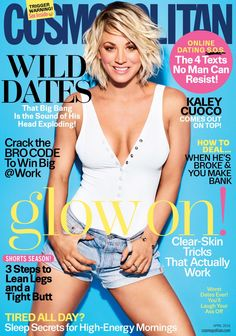 Kaley Cuoco en couverture du magazine Cosmopolitan US - April 2016 // #cover #kaleycuoco #photography #portrait #sexy #woman #photoshoot #hot #model #avril
