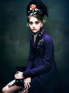 classic Paolo - Gemma Ward by Paolo Roversi [love the color details]