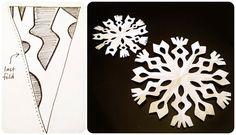 Manualidades: Cómo hacer copos de nieve de papel fácil
