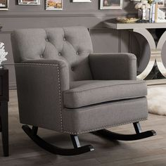 Incredible Carson Carrington Granite Grey Fabric Mid Century Wooden Ibusinesslaw Wood Chair Design Ideas Ibusinesslaworg