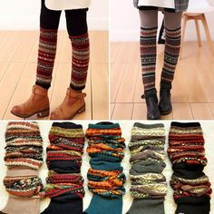 Boot Socks Leg Warmers Boot cuffs in three color options can be worn several different ways Guêtres Au Crochet, Crochet Boots, Boot Toppers, Boot Cuffs, Boot Socks, Leg Warmers Outfit, Mori Fashion, Mein Style, Moda Chic