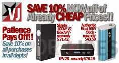 Vapor Joes - Daily Vaping Deals: WHAT? --  SAVE 10% ON EVERYTHING AT FASTTECH