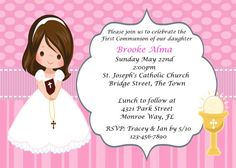 337 DIY First Communion Girls Invitations by PartyAllsortsDesigns