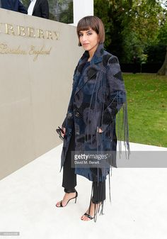 Princess Deena Aljuhani Abdulaziz arrives at Burberry Womenswear Spring/Summer 2016 show during London Fashion Week at Kensington Gardens on September 21, 2015 in London, England.