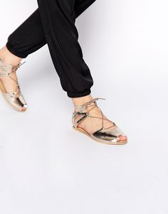 80cf790d491 New Look Leather Black Gladiator Tie Up Flat Sandals