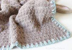 Baby Blanket PATTERN 16 - Cupcake- Crochet Baby Blanket PATTERN 16 - Brown Turquoise - Instant Download PDF
